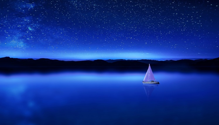 sky with sailboat